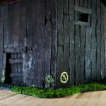 Wargame scenery barn - Corner close up