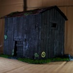 Wargame scenery barn - Another Corner View