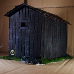 Wargame scenery barn - Back Corner View