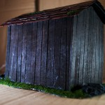 Wargame scenery barn - Back View