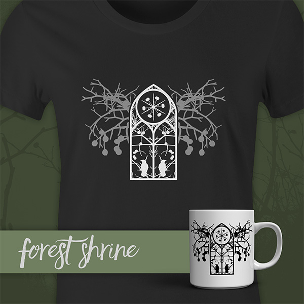 Forest Shrine – T-shirt and Mug